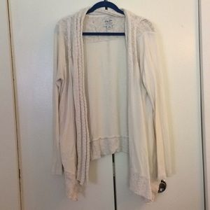 Luck Brand cream cardigan in a xl. Has pockets!